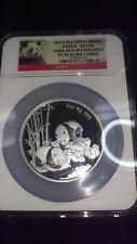 2013 CHINA MEDAL 5 oz .999 SILVER PANDA ** NGC PF 70 UC ** LONG BEACH COIN EXPO
