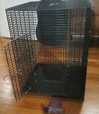 2 Tier Pets Cage Large Playpen Chinchilla Rat Box Pet Enclosure With Cover, Ramp