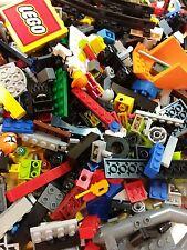 LEGO Bulk Lot 200+ Mixed Color Building Block Pieces Assorted) Bricks Clean