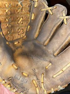 Vintage RAWLINGS MICKEY MANTLE GJ99  Baseball Glove, Deep Well Pocket - Right