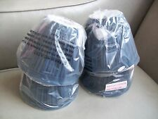 CHANDELIER LAMP SHADES CLIP ON NEW NAVY BLUE PLEATED WHITE INSIDE shade