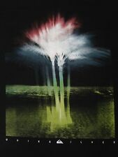 QUIKSILVER X RAY PALM TREES JUMBO GRAPHIC XL BLACK T-SHIRT E3511