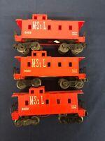 Lionel Postwar Minneapolis & St. Louis (MSTL) 6059 Caboose Lot (3x)