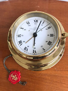 Vintage WEMPE Nautical 1980 Ship Maritime Chronometerverke Hamburg Clock Brass