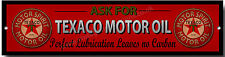 Chiedi di TEXACO MOTOR OIL perfetta lubrificazione Non Lascia Segno Metallo Carbonio garage.