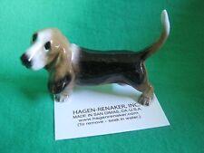Hagen Renaker Dog Papa Basset Hound Figurine Miniature 03154 Porcelain Ceramic