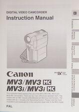 Canon mv3/mv3 mc/mv3i/mv3i MC Instruction Manual English istruzioni - (14328)