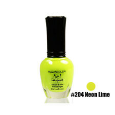 1 Kleancolor Nail Polish Lacquer #204 Neon Lime Manicure