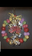 Handmade Jingle Bells wreath please go to my page and see other items that I.