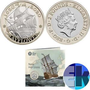 Ek // 2 GBP CN BU Royaume-Uni 2020 Mayflower