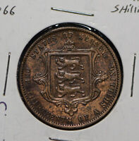 Jersey 1866 1/13 Shilling Lion animal  291668 combine shipping