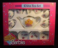 Barbie - 12 Piece China Tea Set - 1989 - By Chilton Globe Inc.