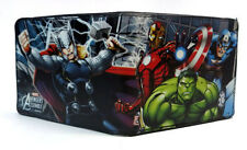 Avengers Marvel Group Black Bifold Buckle Down Wallet Anime Licensed NEW