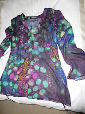 Marks and Spencer Per una sheer tunic size 12