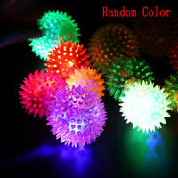 Flashing Light Pet Hedgehog Ball Creative Puppy Toy Dog Supplies Random Color x1