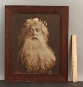 RARE Antique Authentic HARRIS & EWING Sepia Photograph, Old Man Actor