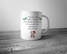 Christmas Eve mug - 'Twas the night before Christmas ....'