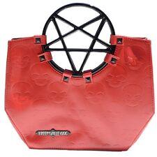 Vinyl Red Pentagram Handle Purse Gothic Halloween Kreepsville 666 Handbag