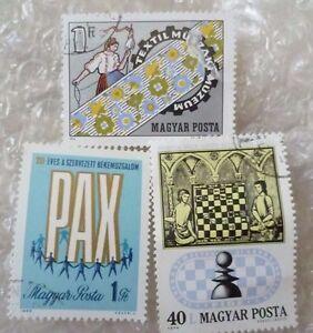 Stamp- Magyar Posta Stamps - lot of 3 (Used & Unused)