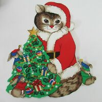 Christmas Cut Out Appliques Fabric Panels Holiday Cats Mice Ribbons Candy Canes