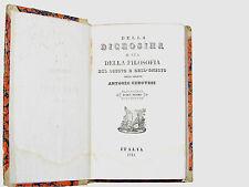Libro Diceosina o sia Filosofia del Giusto e Onesto Abate Antonio Genovesi 1843