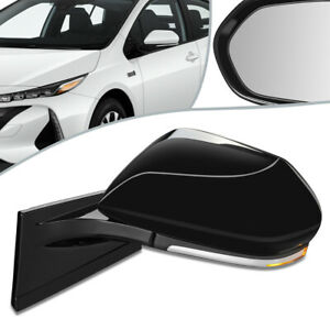 Fit 17-19 Toyota Prius Prime Powered + Heated Side Door Mirror Left TO1320369