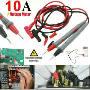 New Top Quality 10A Digital Multimeter Test Leads Probes Volt Meter Cable UK