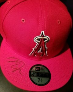 Mike Trout Signed Los Angeles Angels New Era Game Model Hat AUTHENTIC AUTO MVP