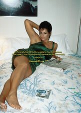 Vanessa del Rio ADULT Film Actress Hotel Bed Barefoot Dress Sign Aft Buy w/COA