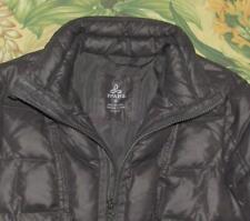 Womens PRANA Gray Full Zip Down Fill Parka Coat XS