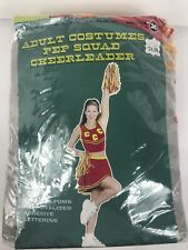 Pep Squad Cheerleader Pep Squad Costume Womens M 8-14 Pom Poms Outfit Halloween