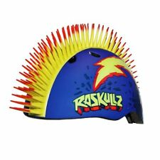 RASKULLZ BOLT HAWK SPIKES 3D SHAPED SAFETY HELMET BIKE KIDS BOYS 50cm - 54cm