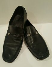 $595 Bruno Magli Men's All Leather Slip-On Loafers Size 10.5 M Italy