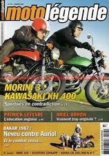 MOTO LEGENDE 175 KAWASAKI KH 400 Z MORINI 350 HONDA CB 250 N Paris DAKAR 1987