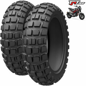 Benelli TnT 125 Big Block Scooter Replacement Tyres Front & Rear Tyre Pair / Set