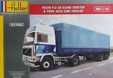 Heller Bausatz Volvo F12-20 Globetrotter & Twin-Axle Semi Trailer 1:32 Art 81703