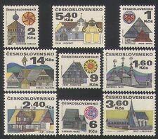 Architecture Czech & Czechoslovakian Stamps