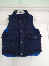 12-18m Baby GAP cosy padded gilet/bodywarmer: Navy/Grey fleece lining: Good cond