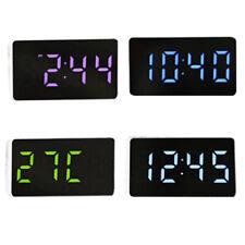 Small Digital-Bedside LED-Alarm-Clocks Time Calenda Temperature Clock Decor