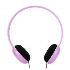Over Head Adjustable Kids Childs Girls Star Headphones iPod iPhone Phones Purple