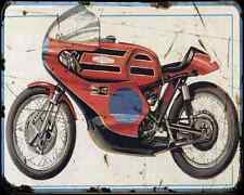 Aermacchi Harley Davidson 250 1972 A4 Metal Sign Motorbike Vintage Aged