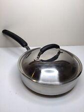 """Meyer Bella Cuisine Cookware 9"""" Deep Skillet W/Lid Stainless Steel Sauté Fry Pan"""