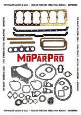 34 35 36 37 38 39 40 Dodge Amp Plymouth 201 218 230 Full Engine Gasket Set Mopar