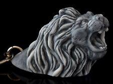 Lion Head Marble Stone Keychain Keyring Pendant Figurine Russian Art Sculpture