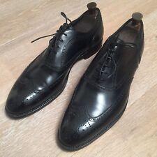 Alfred Dunhill Oxford Brogue Zapatos, becerro negro, tamaño 11.5UK, 45.5IT
