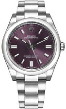 New Rolex Oyster Perpetual 36 Red Grape Dial Women's Luxury Watch 116000