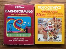 Atari 2600 Video Olympics & Barnstorming Games In Box Item #898-20