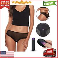THONG VIBRATING UNDERWEAR W/Remote FINDER BLACK ONE SIZE FIT ALL Panties
