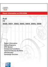2000-2006 Audi TT Coupe, 2001-2006 Audi TT Roadster Factory Repair Manual on DVD