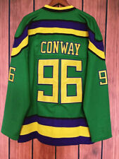 Charlie Conway #96 Mighty Ducks Movie Men's Hockey Jersey Stitched Green White